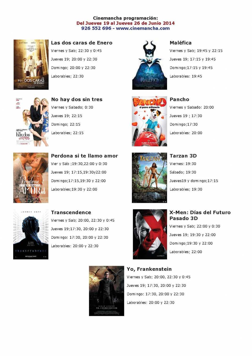 cartelera de cinemancha del jueves 19 al jueves 26 de junio 1068x1511 - Cinemancha programación: Del Jueves 19 al Jueves 26 de Junio 2014