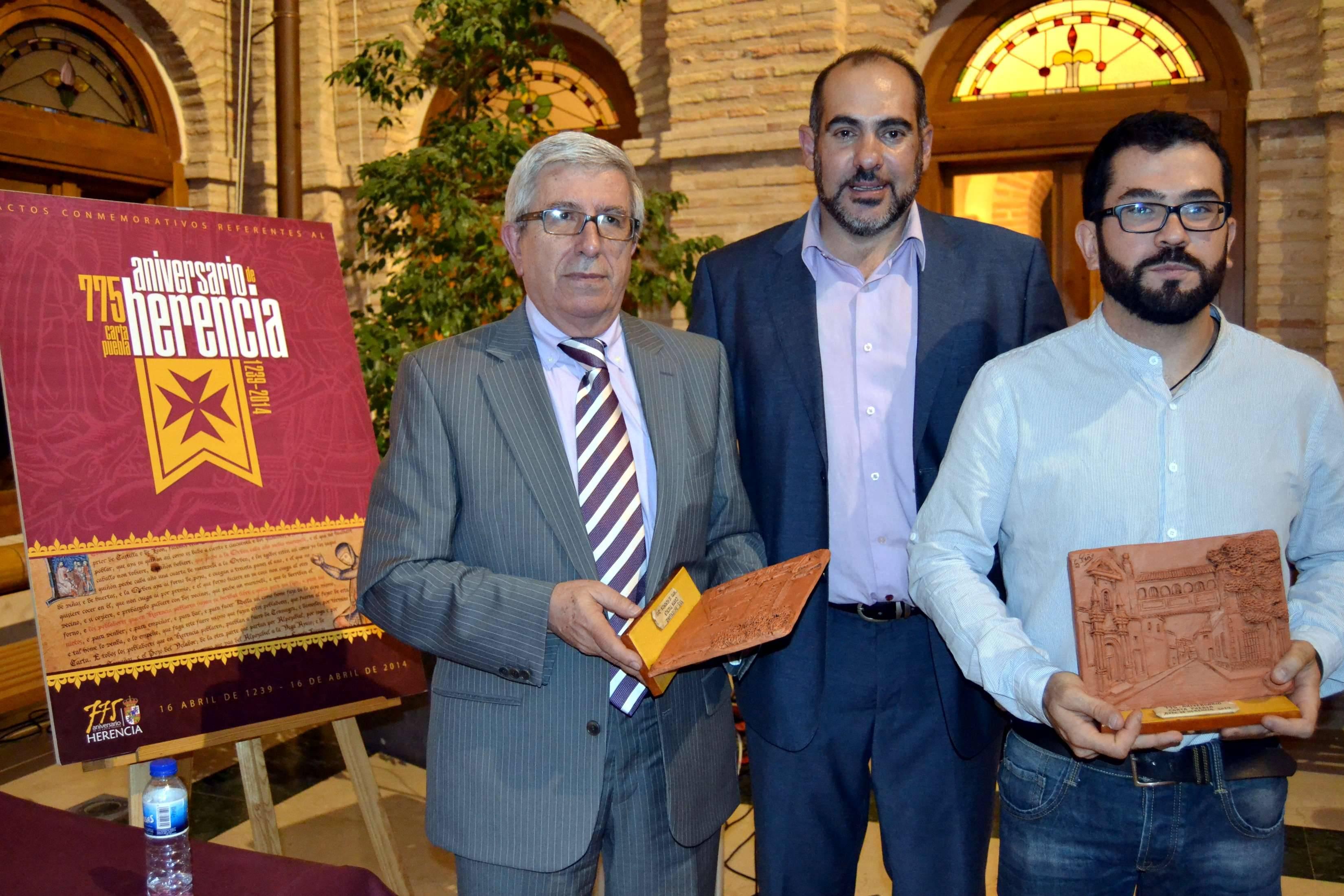 herencia 775 inauguracion alcalde y los 2 primeros ponentes - El jueves 12 continúan las jornadas de historia de Herencia