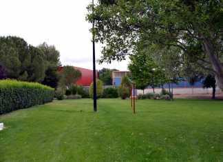 Zonas verdes de la piscina municipal de Herencia