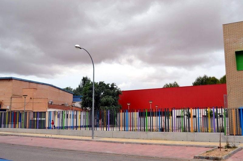 Complejo deportivo de Herencia junto al colegio Carrasco Alcalde