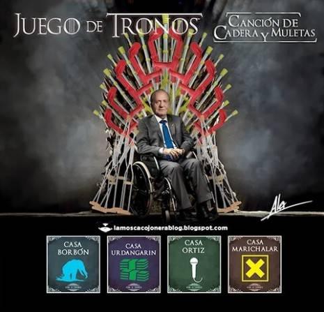 juegos de tronos - Juan carlos abdica