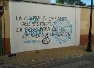 Pintada sobre el símbolo jubilar de Herencia