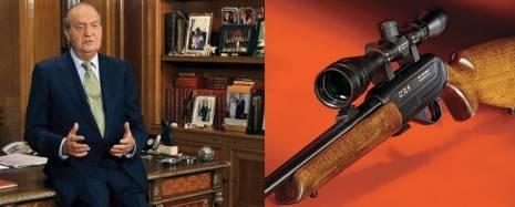 rey de espana y rifle 465x187 - Abdica el Rey de España, Don Juan Carlos I