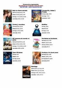 CARTELERA DE CINEMANCHA DEL 10 AL 17 E JULIO
