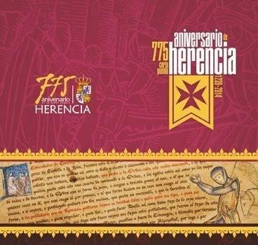 Cartel carta puebla - La Carta Puebla de Herencia. Últimos datos a sus 775 años