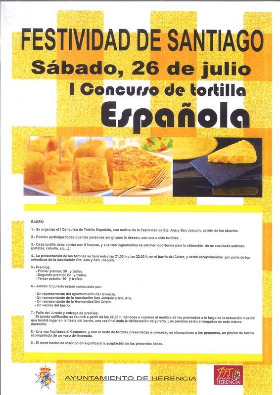 Cartel del Primer Concurso de Tortilla Española de Herencia