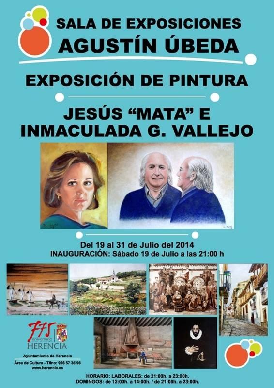 Cartel exposicion en Herencia de Jesus Mata e Inmaculada Garcia Vallejo
