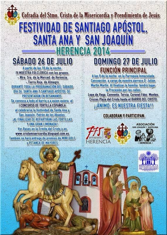 Festividad de Santiago, San Joaquin y Santa Ana en Herencia