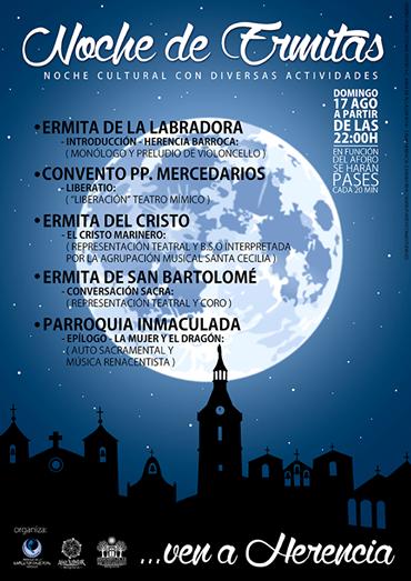 Noche de Ermitas en Herencia - La noche de las ermitas es la propuesta cultural de la parroquia para el mes de agosto