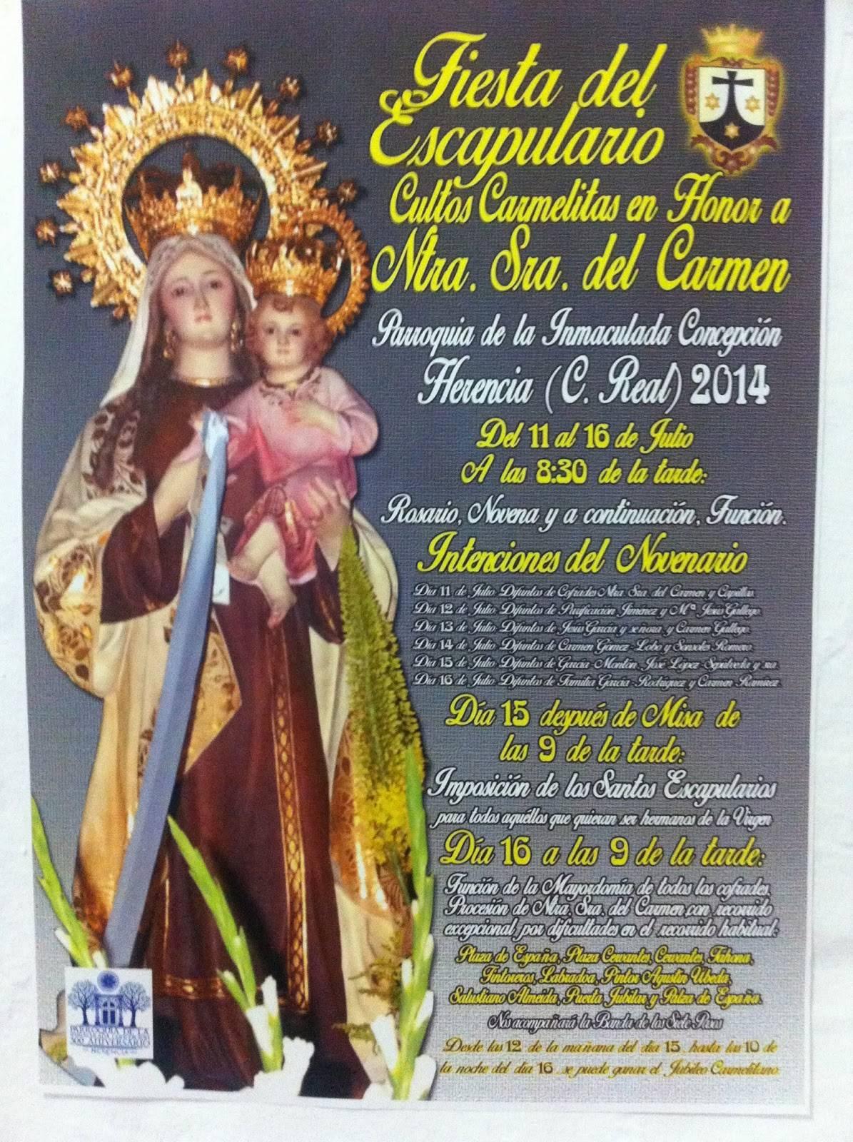 Quinario Virgen del Carmen - Todo preparado para celebrar la festividad de la Virgen del Carmen