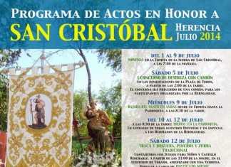 cartel festividad de san Cristóbal