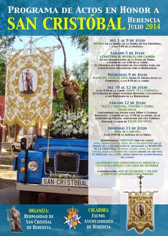 cartel festividad de san Cristóbal - Programa de actividades con motivo de la festividad de San Cristóbal