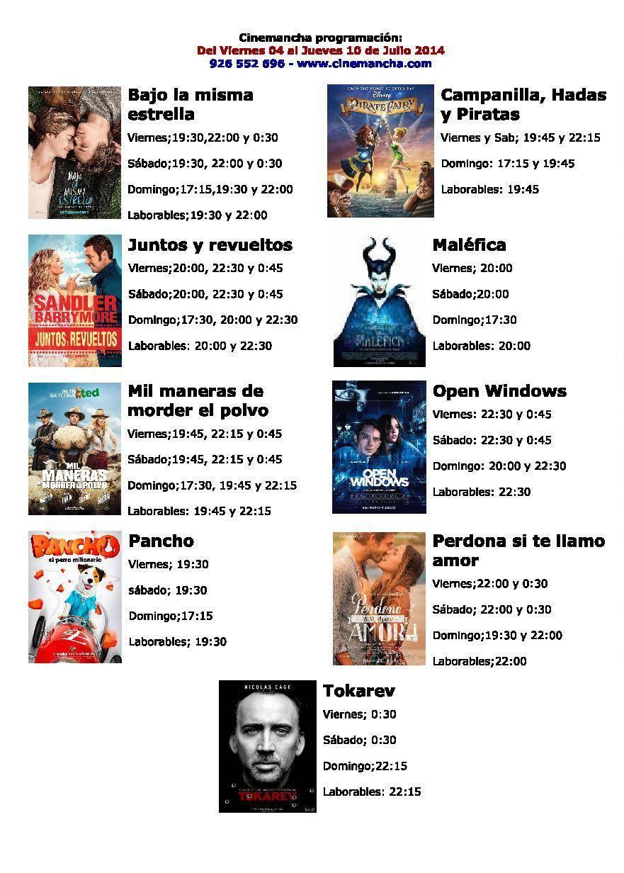 cartelera de cinemancha del 04 al 10 de julio - Cinemancha programación de Cinemancha del 04 al 10 de julio