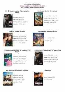 cartelera  de cinemancha del 18 al 24 de julio