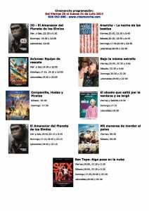 cartelra de cinemacnha del 25 al