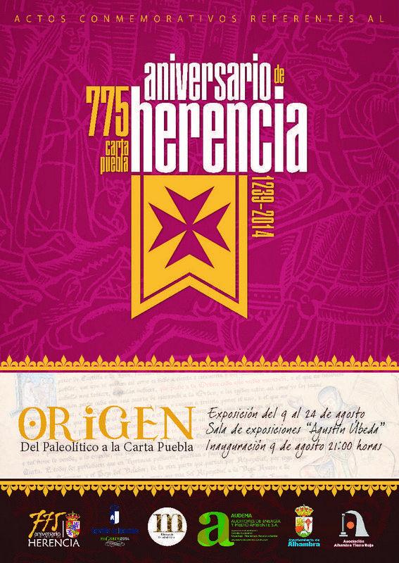 herencia cartel exposicion origen - Programación cultural de agosto en Herencia