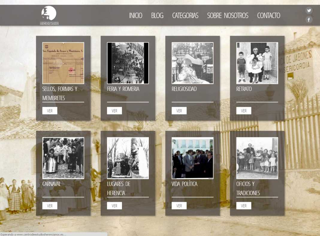 herencia web ceh pantallazo 1 1068x786 - Presentado el nuevo portal del Centro de Estudios Herencianos