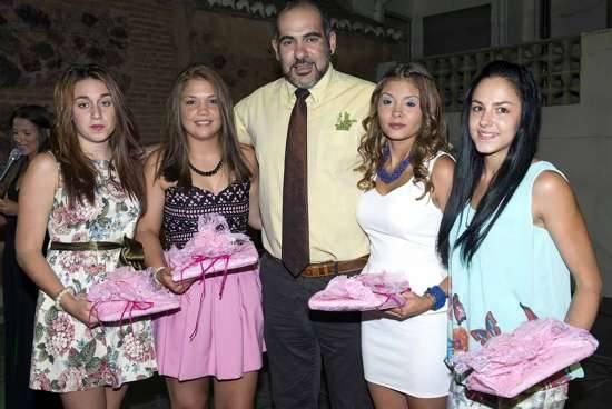 Alclade de Herencia junto a las próximas Reina y damas de las ferias 2014 - Elegida la reina y damas para la próxima feria y fiestas de La Merced