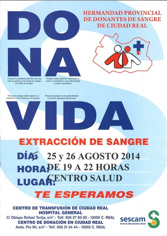 Campaña donación de sangre en Herencia - Campaña de donación de sangre en Herencia