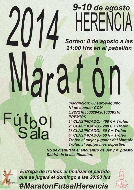 Maratón de fútbol sala de Herencia - El próximo fin de semana se disputará el maratón de fútbol sala de Herencia