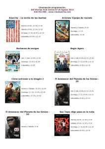 cartelera de cinemancha del 01 al 07 de agosto