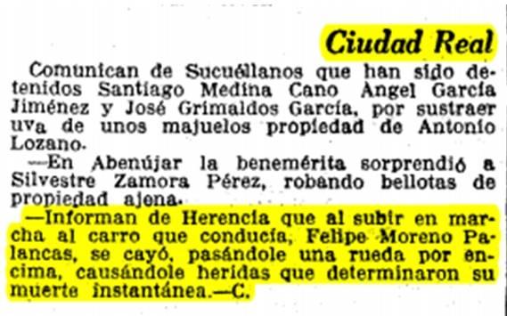 """11 de Octubre de 1929 en el Diario de """"La Vanguardia"""""""