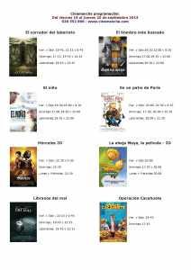 CARTELERA DE MULTICINES CINEMANCHA, DEL 19 AL 25 DE SEPTIEMBRE