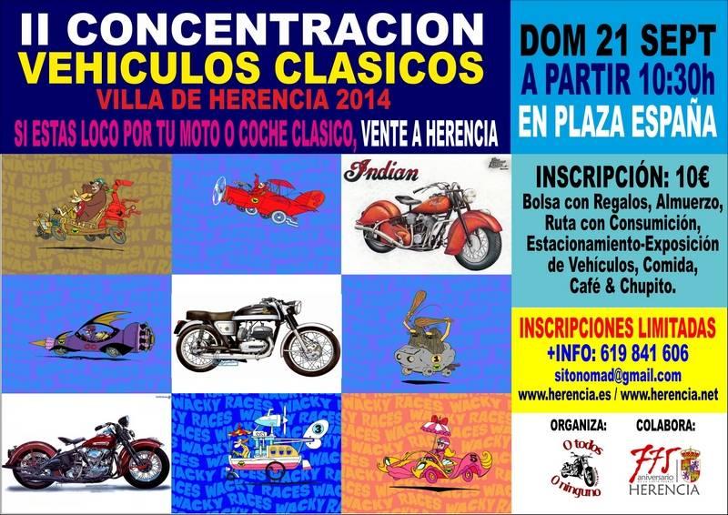CARTEL AUTOS CLASICOS FERIA 2014 - Segunda concentración de vehículos clásicos Villa de Herencia