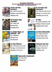 cartelera de cinemancha del 16-09 al 02-10