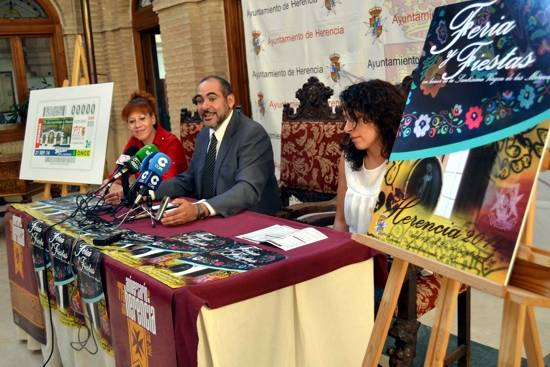 herencia fiestas Gema alcalde y concejal cultura g - Las Ferias y Fiestas de Herencia se celebrarán del 19 al 24 de septiembre con varias novedades