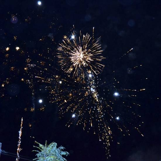 Fuegos artificiales en Herencia Feria y Fiestas 2014