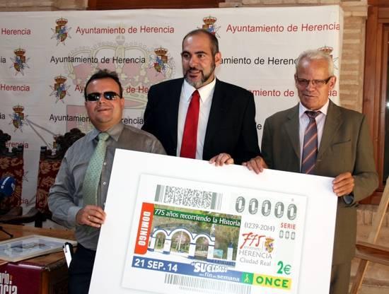 Décimo de la ONCE con el 775 aniversario Carta Puebla de Herencia