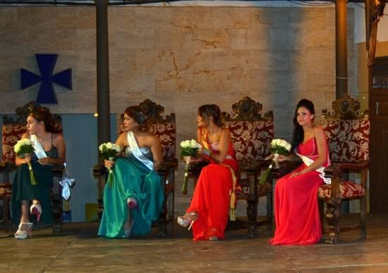 Las reina y damas de la Feria y Fiestas 2014