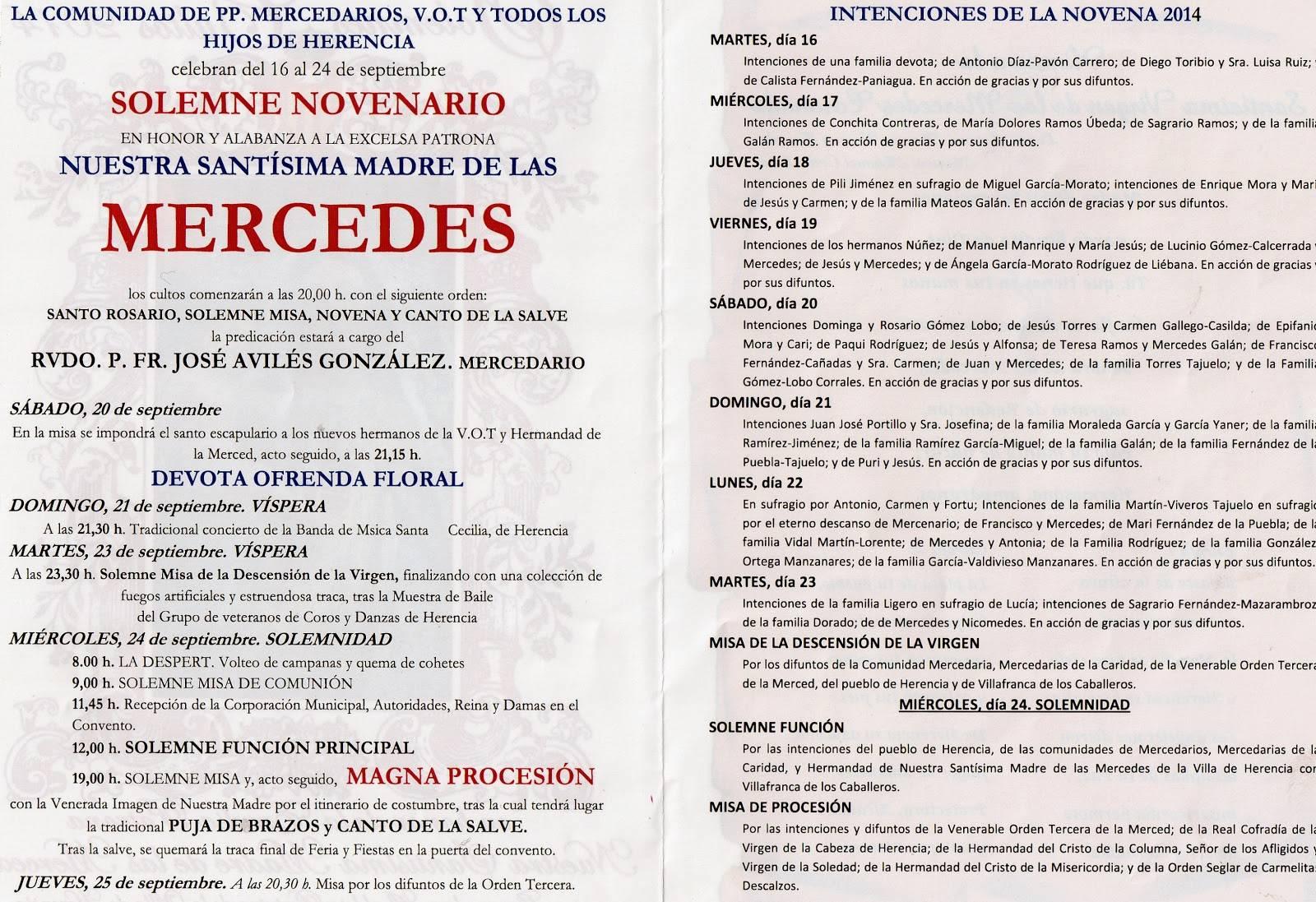 patronadeherencia002 - Actos en honor a la Virgen de las Mercedes