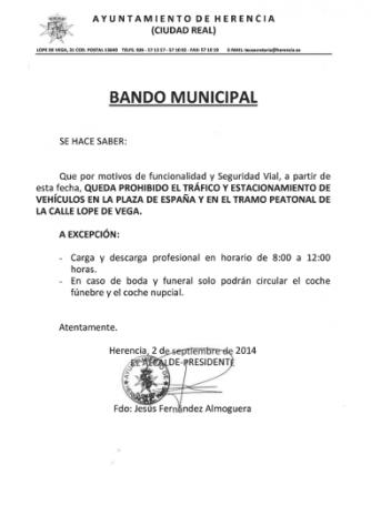 prohibido parking en zonas peatonales de herencia 334x465 - Prohibido estacionar en zonas peatonales 7 años después (+ encuesta)