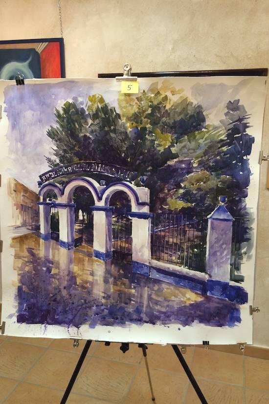 tercer premio pintura rapida - Orencio Murillo ganador del VIII Certamen de Pintura Rápida