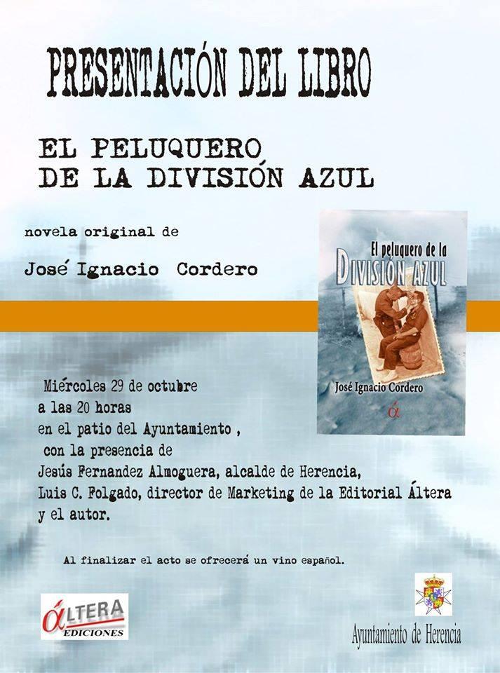 """Cartel presentación libro el peluquero de la división azul - Presentación del libro """"El peluquero de la División Azul"""""""