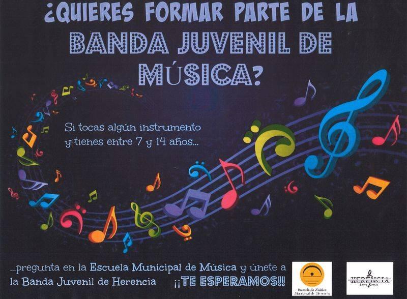 Creacion banda juvenil de música de Herencia - La agrupación musical Santa Cecilia y la Escuela de Música quieren crear una banda juvenil en Herencia