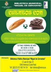Cuentos de pan y chocolate 215x300 - Hoy dan comienzo los Cuentos con Pan y Chocolate