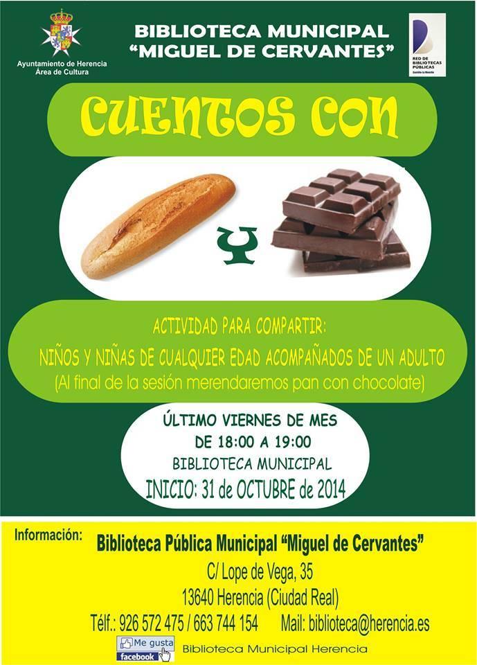 Cuentos de pan y chocolate - Hoy dan comienzo los Cuentos con Pan y Chocolate