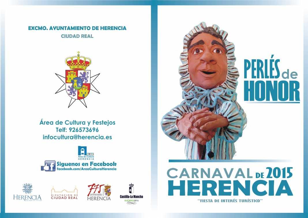 El Carnaval de Herencia busca propuestas para sus Perlés de Honor 2015 1