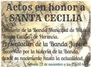 Actos de la Agrupación Musical Santa Cecilia de Herencia 2014