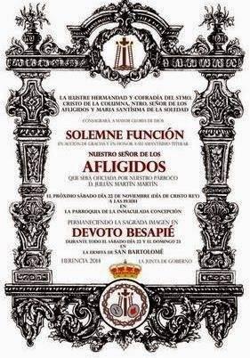 """Afligidos - """"El Santo"""" organiza un besapié en honor al Señor de los Afligidos"""