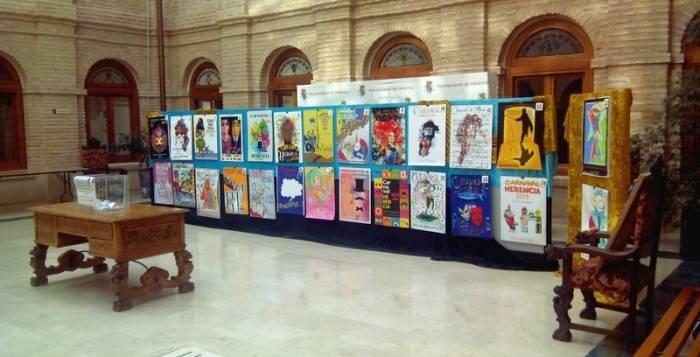Exposición de los candidatos a cartel anunicador del Carnaval de Herencia 2015