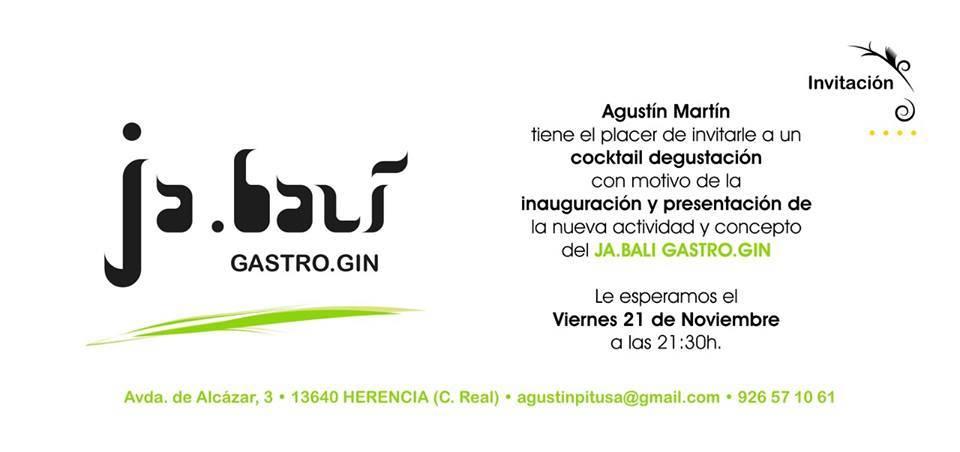 Inauguración Ja.bali Gastro Gin - Ja.balí gastro.gin abre sus puertas en Herencia