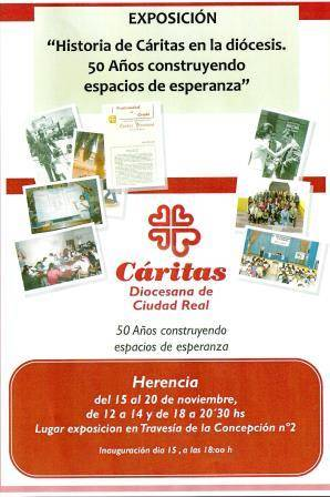 cartel exposición caritas diocesana en Herencia - Exposición de Cáritas Diocesana en Herencia