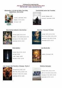 cartelera de cinemancha del 21 al 27 de noviembre