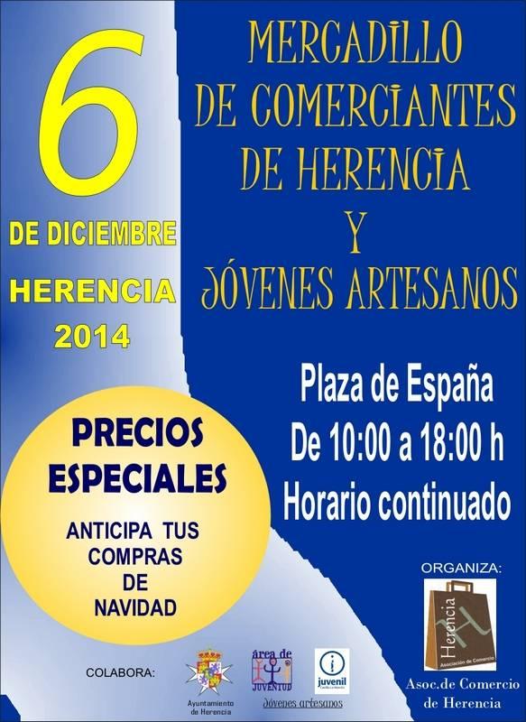 herencia mercadillo comerciantes de herencia - La Asociación del Comercio de Herencia organiza un año más el Mercadillo navideño el Día de la Constitución