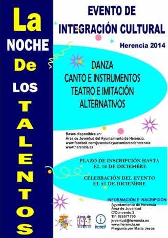 """noche de los talentos 328x465 - """"La noche de los talentos 2014"""" para potenciar la creatividad de los jóvenes"""