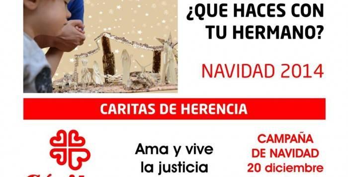 Campaña de navidad de Cáritas Herencia
